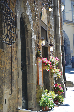 The town of Cortona in Tuscany, made famous by Frances Mayes' Under the Tuscan Sun, was another stop on the literary settings tour of Italy.