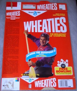The only paddler ever to have appeared on a Wheaties box.