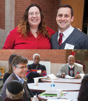 From JTCC, Alyce Miller, PhD, associate professor of history, Cris Silvent, assistant professor of art (top), and Brian Daugherity, assistant professor of history at VCU, (bottom left) participate in a past Conference on Rosenwald Schools in Virginia. Held at JTCC, the annual event brings Rosenwald alumni and community members together.