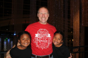 John Calabrese and his daughters enjoyed their stay at Gaylord National and Christmas on the Potomac in December.