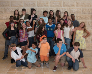 The talented young cast of 13 (photos by Tom Topinka)