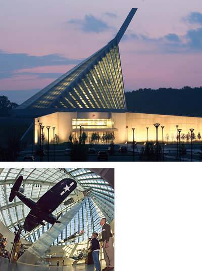 The striking architecture of the National Museum of the Marine Corp is a harbinger for travelers along I-95. RFM family travel writer, Victoria, says the museum's use of realistic environments and special effects is powerful for all ages.