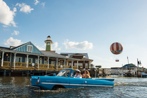 You can tour Downtown Disney from a Boathouse amphicar.