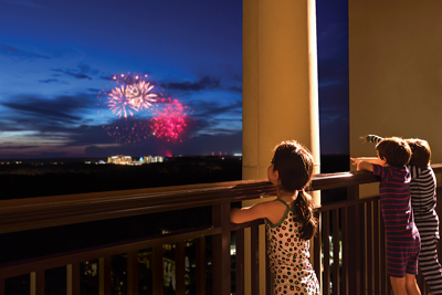 A big perk for families staying at the new Four Seasons Resort at Disney? You can enjoy those amazing fireworks shows from the comfort of your balcony.