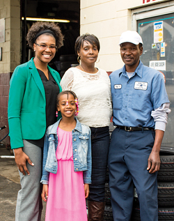 LaChelle with her daughter, Destiny, says her parents, Debra and Ray Waller, always encouraged her to go for her goals.