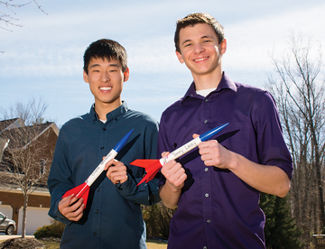 Dylan Whitesel and Sanzio Angeli raised more than $20,000 for cancer research and set a world record in the process – with a simultaneous launch of 3,973 rockets.