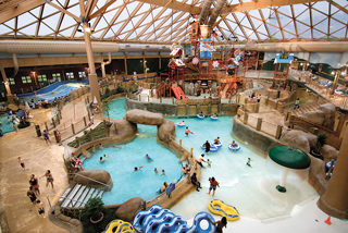 Massanutten's indoor water park is the ticket for teens with its FlowRider® surfing-simulator experience.