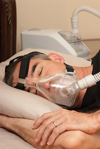 Treat sleep apnea with a CPAP machine.