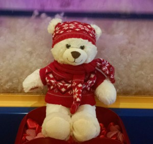 Pam Pouchot, November sweepstakes winner, sent in a shot of Snowfluff, the newest member of the family's Build-A-Bear collection – thanks to RFM!