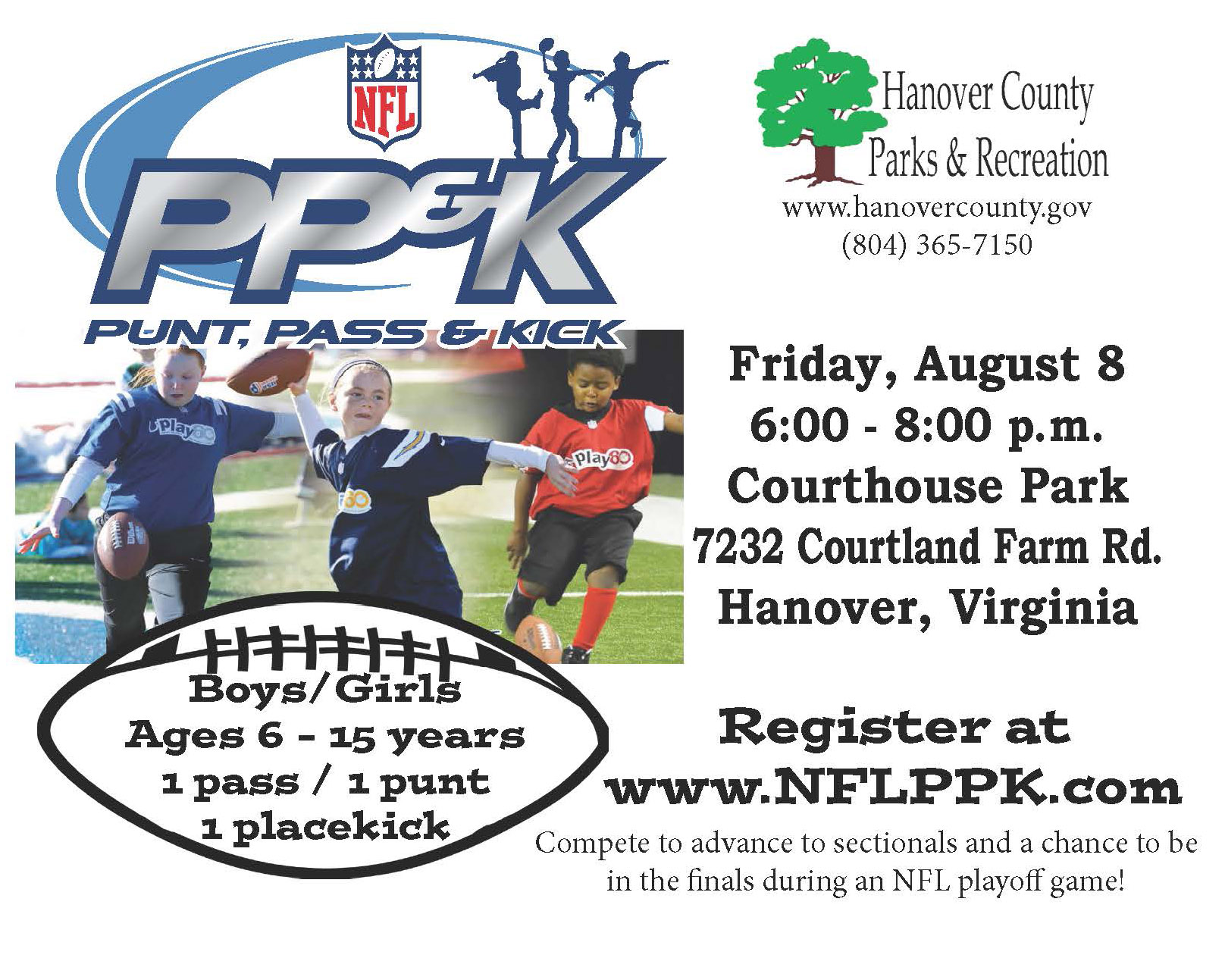 NFL Punt, Pass, And Kick August 8