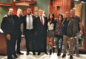 "On Michael's bucket list? Appearing on his favorite soap. Yes, that's Eric Braeden, along with other stars from ""The Young and the Restless."""