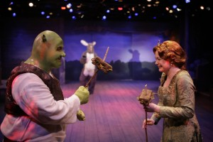 The chemistry between Jason Marks as Shrek and Aly Wepplo's Fiona was infectiously fun!