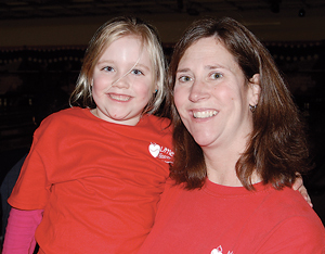 Rebecca Mannion of MLH with her daughter, Addison, who was born with a congenital heart defect.