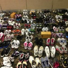 Bring Gently Used Shoes to Saxon through December 24