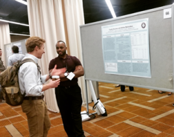 Jermaine Bean presented his thesis research