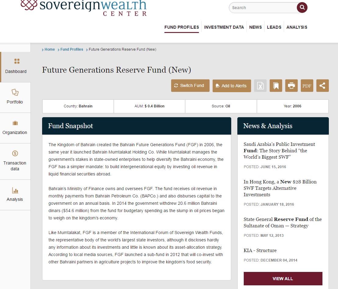 Bahrain Future Generations Fund - Bahrain Future Generations