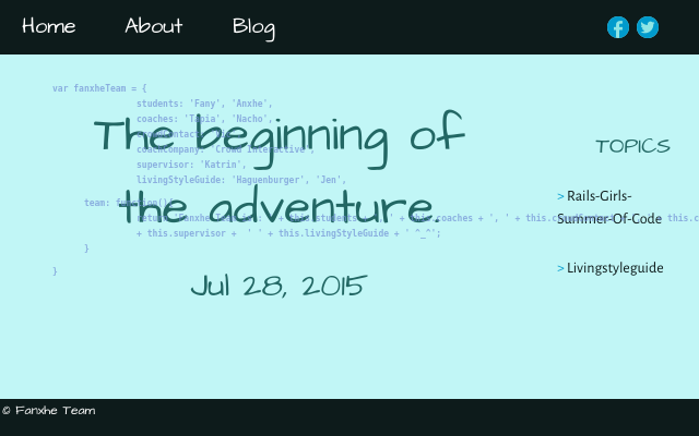 2015 07 28 the beginning of the adventure