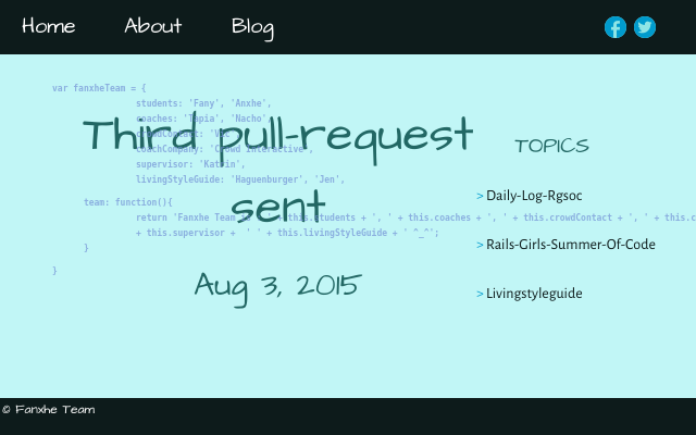 2015 08 03 the third pull request sent