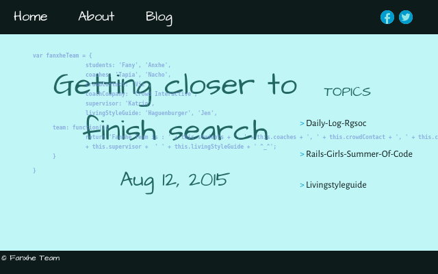 2015 08 12 getting closer to finish search