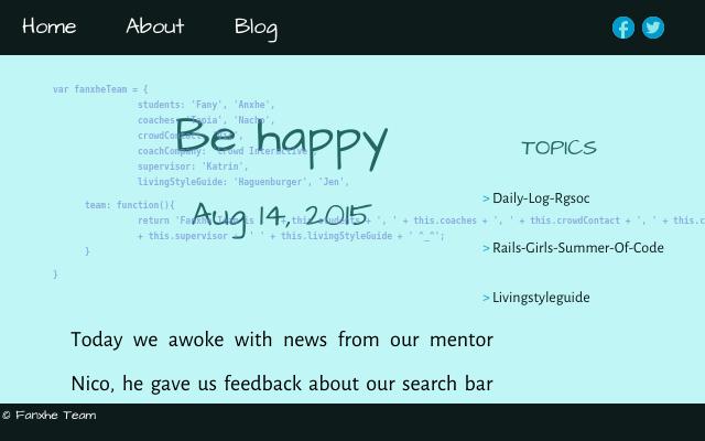 2015 08 14 be happy