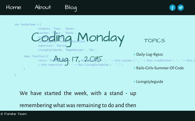 2015 08 17 coding monday