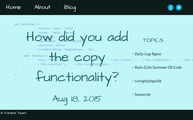 2015 08 18 how did you add the copy functionality