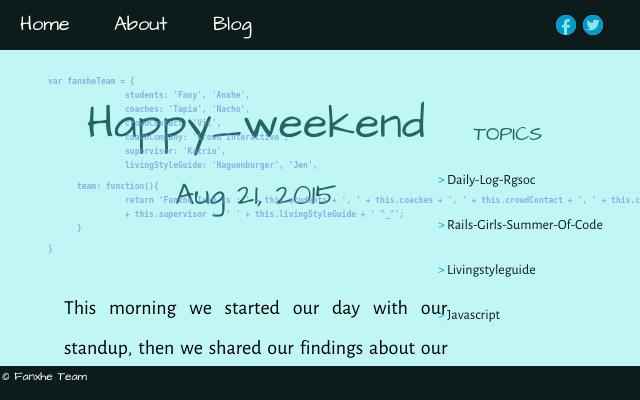 2015 08 21 happy weekend