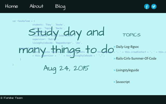 2015 08 24 study day and many things to do