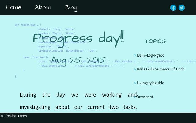 2015 08 25 progress day