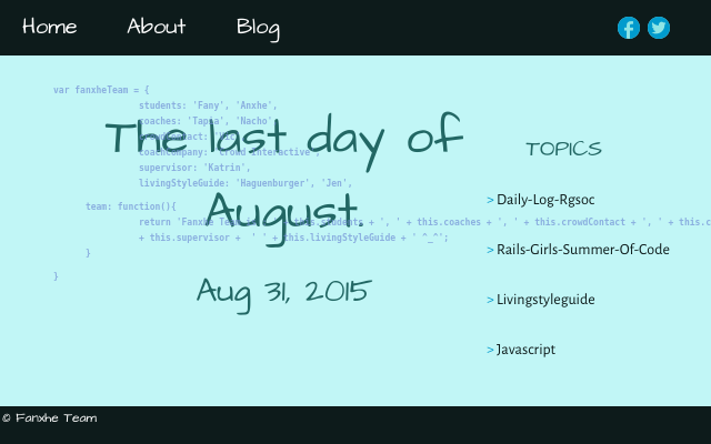 2015 08 31 the last day of august