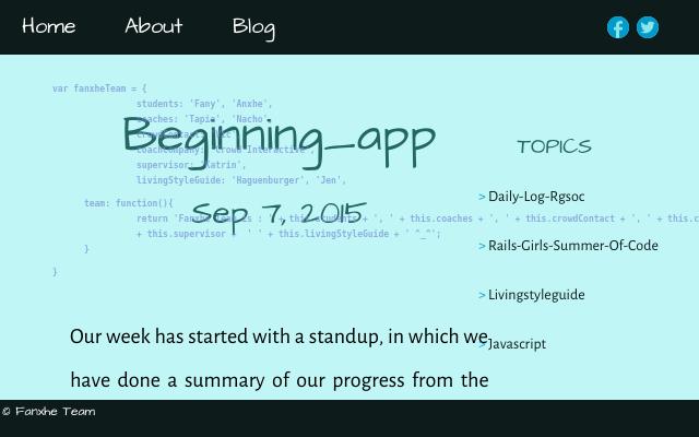 2015 09 07 beginning app