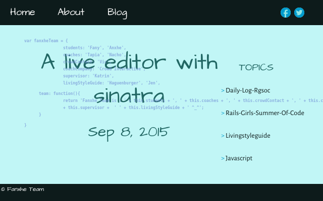 2015 09 08 a live editor with sinatra