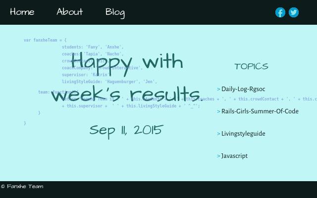 2015 09 11 happy with weeks results
