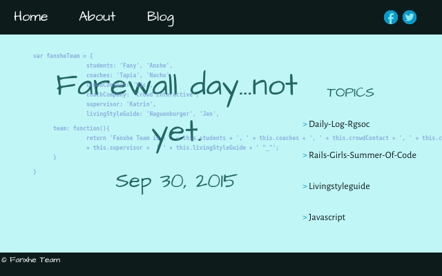 2015 09 30 farewall day not yet