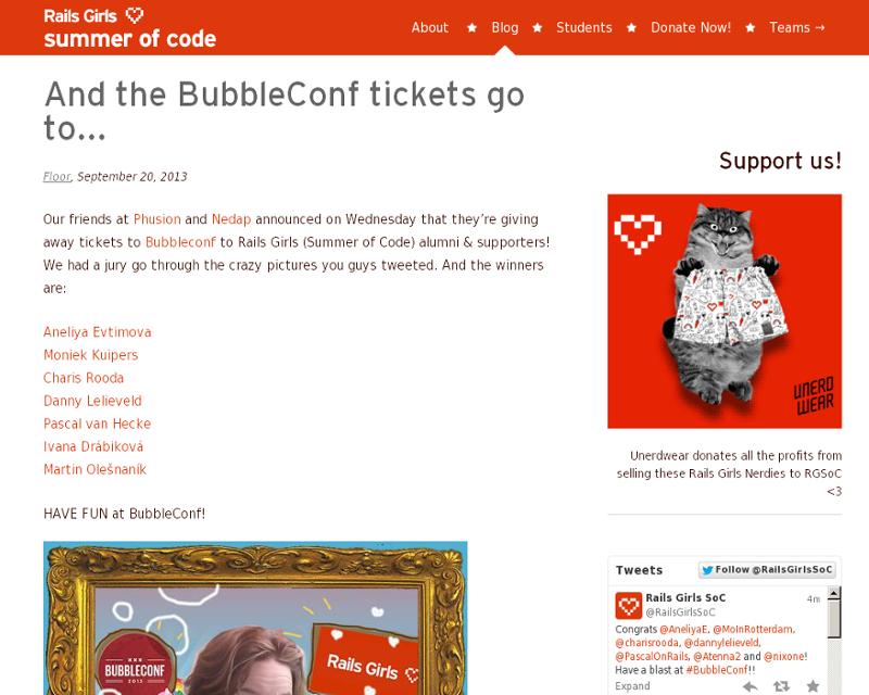 Bubbleconf winners