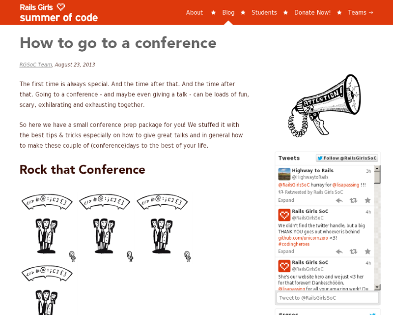 Conference tips