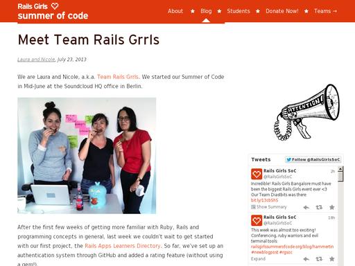 Meet team rails grrls