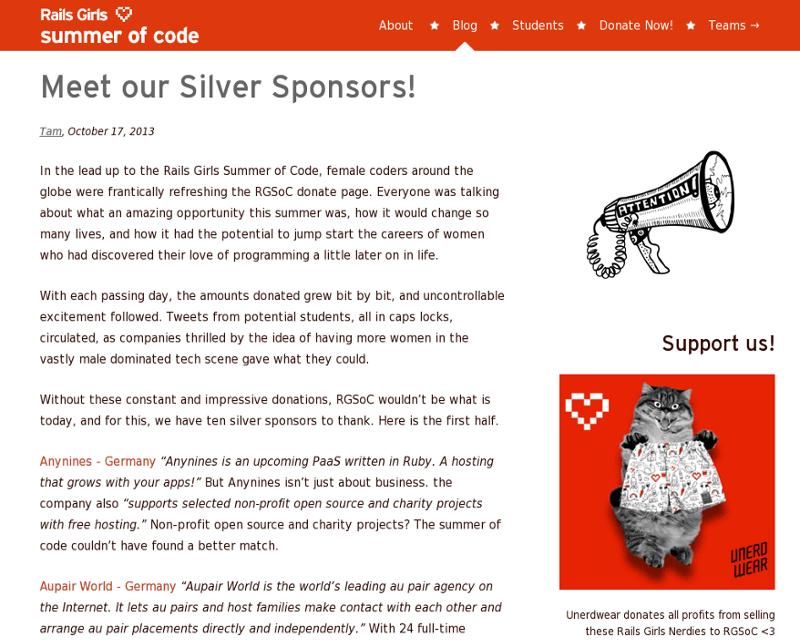 Silver sponsors pt 1
