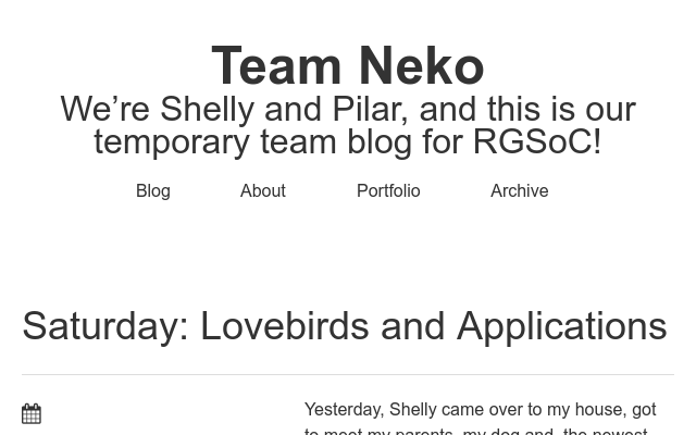 Saturday lovebirds and applications