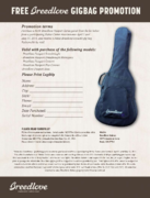Breedlove Passport Series Free Gig Bag Offer April-May