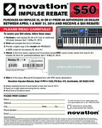 $50 Novation Impulse Rebate