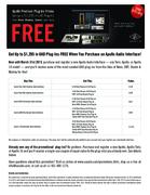 Universal Audio Apollo Free Plug-In Promotion