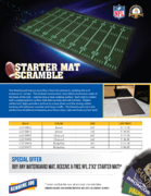 Get a FREE NFL 2 x 3 Starter Mat when you buy a Genuine Joe WaterGuard Mat! Click here for details on this special mail-in offer!
