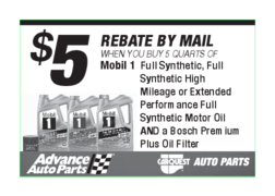 Buy (5) quarts of Mobil 1 and a qualifying oil filter