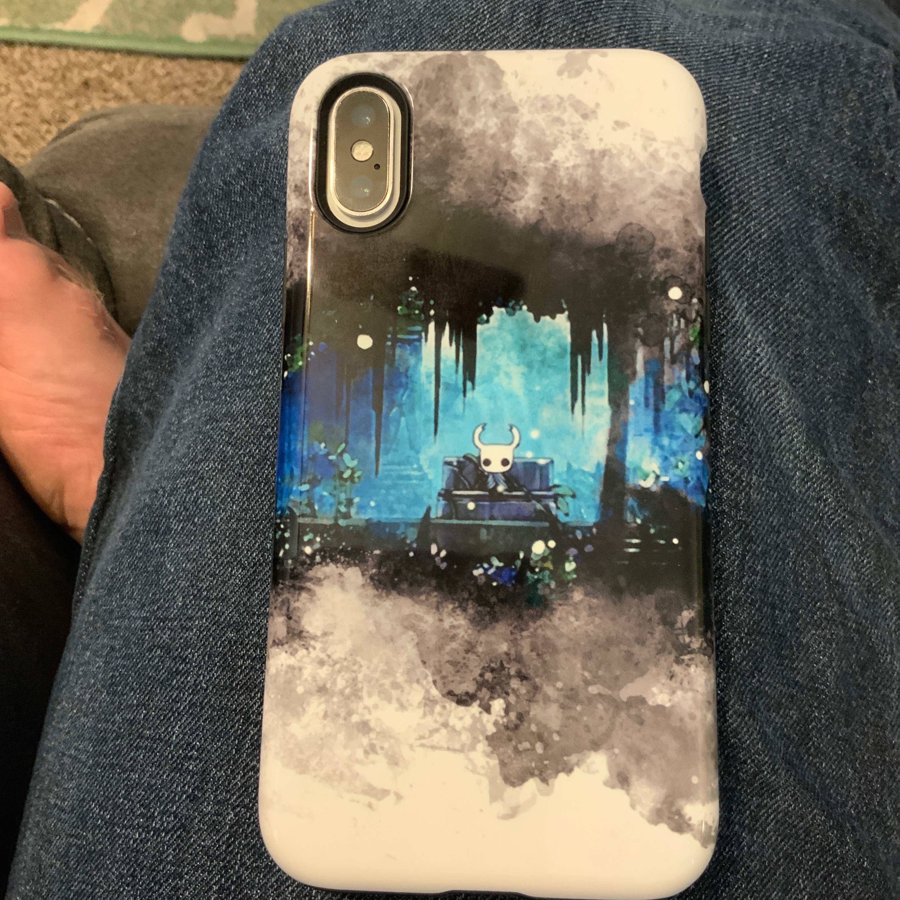 My new phone case, based on Hollow Knight