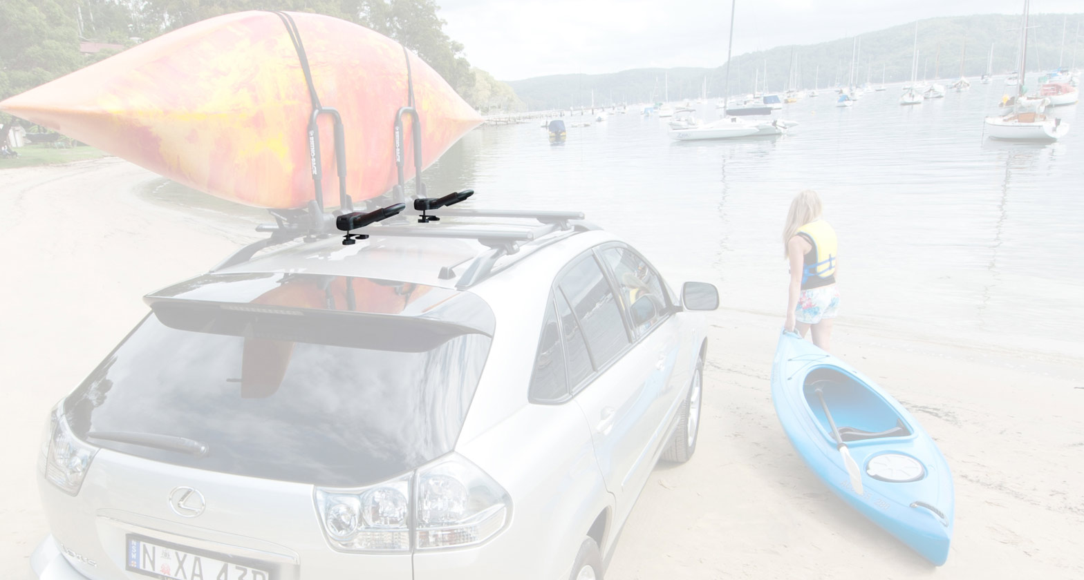 Folding J Style Kayak Carrier Extension
