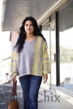 Big Moves Sweater (Mustard/Grey)