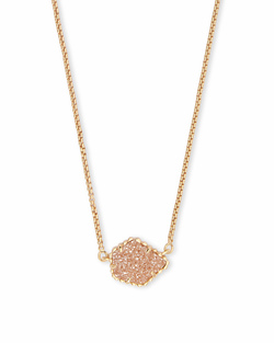 Kendra Scott ~ Tess Pendant Necklace (Gold/Sand Drusy)