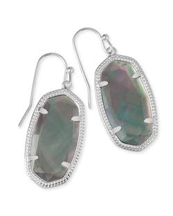 Kendra Scott ~ Dani Drop Earrings (Silver/Black Pearl)