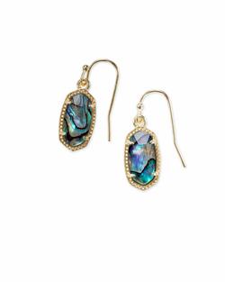 Kendra Scott ~ Lee Drop Earrings (Gold/Abalone Shell)